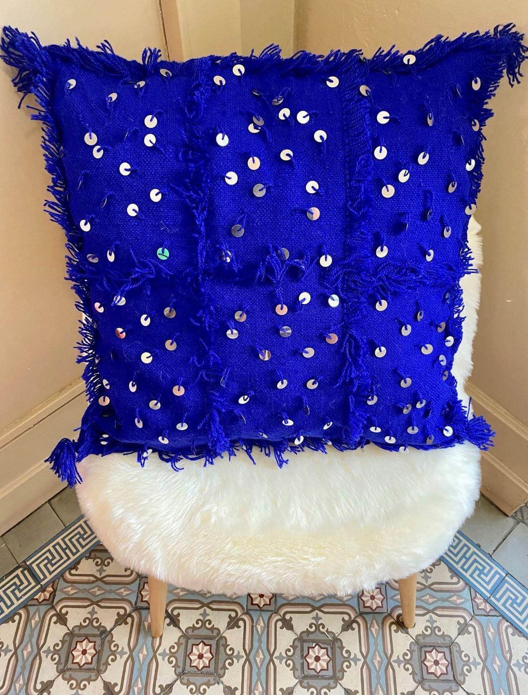 Coussins Berbère bleu